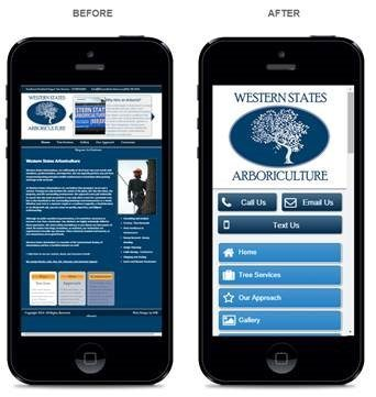 Mobile Website Design - Before and After Example